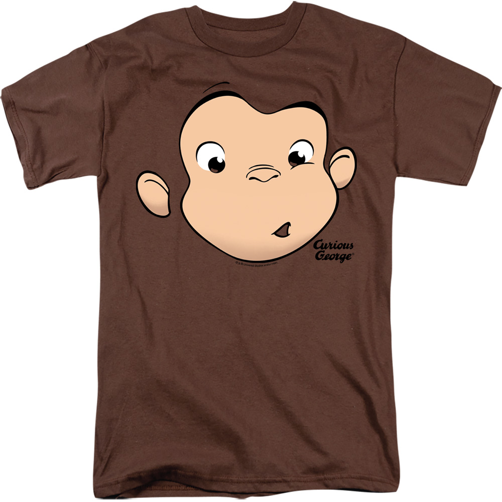 Curious George Guilty Look WHO ME Licensed Adult Long Sleeve T-Shirt S-3XL