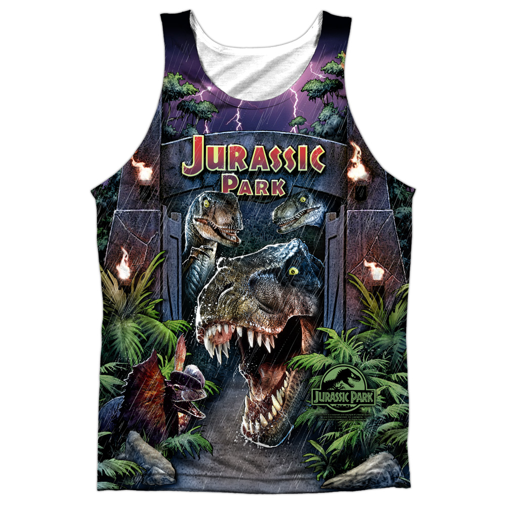 Jurassic Park Movie Welcome to the Park Dinosaurs Tee Shirt Adult S-3XL