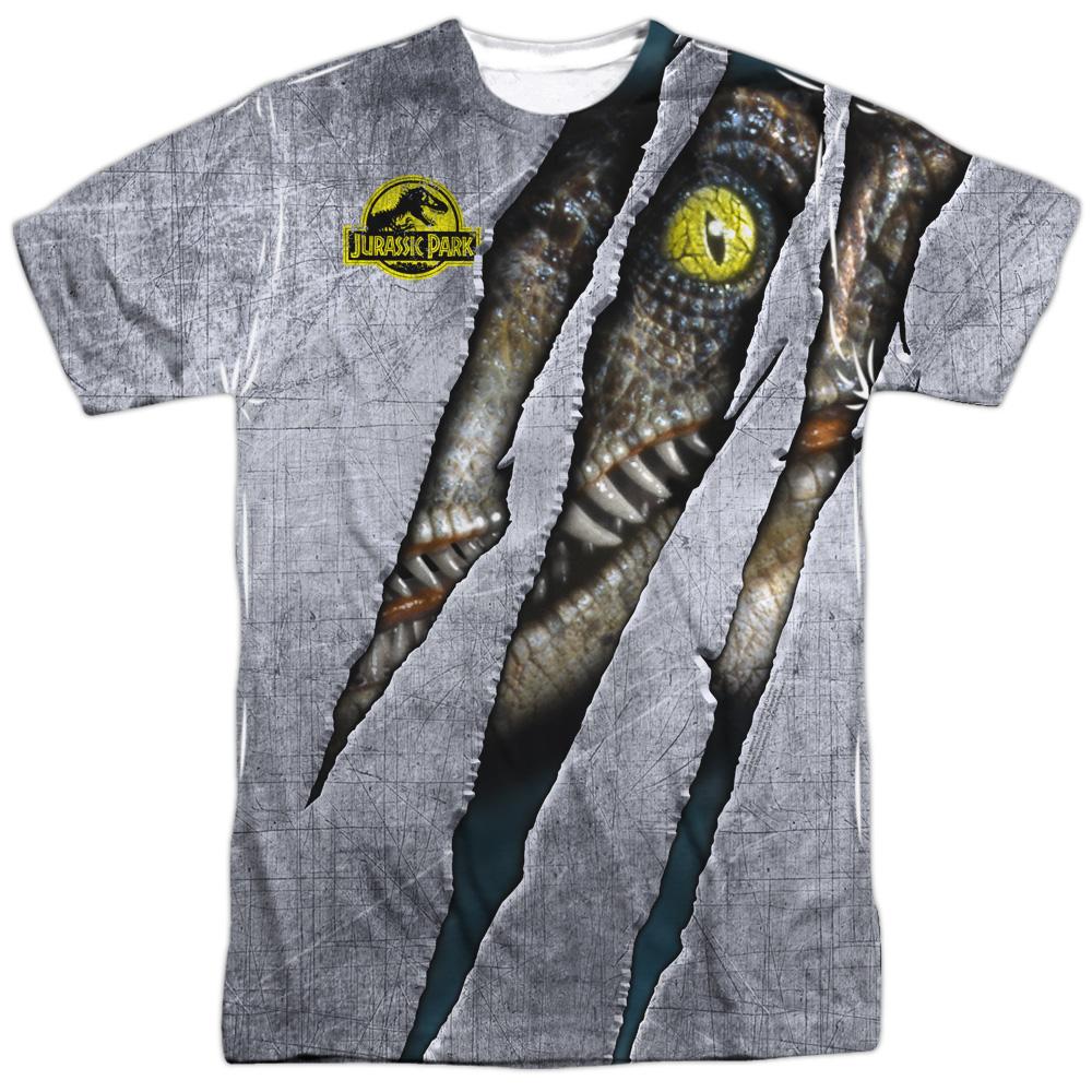 Jurassic Park T Rex Chef Mens Shirt Sublimation White