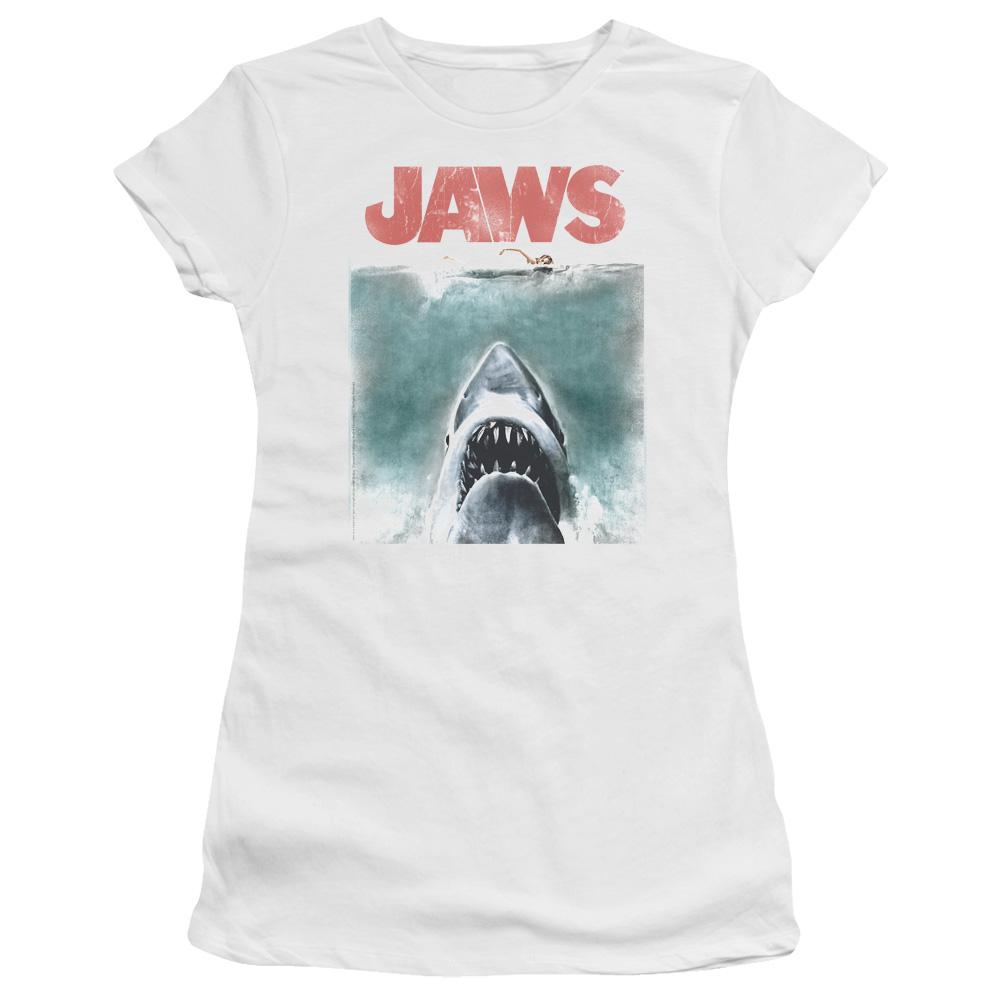 Vintage Poster Jaws Junior Fit T Shirt