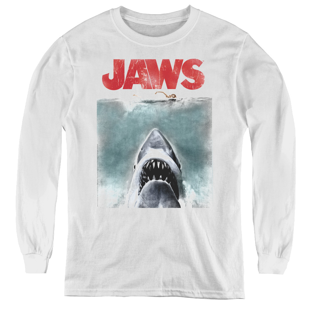 Vintage Poster Jaws Kids Long Sleeve Shirt