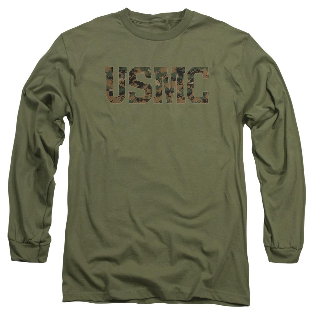 US Marine Corps USMC Camo Fill Long Sleeve Shirt