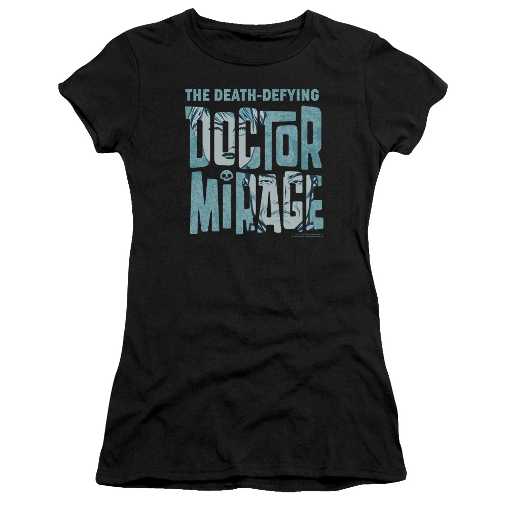 Dr Mirage Character Logo Junior Fit T Shirt