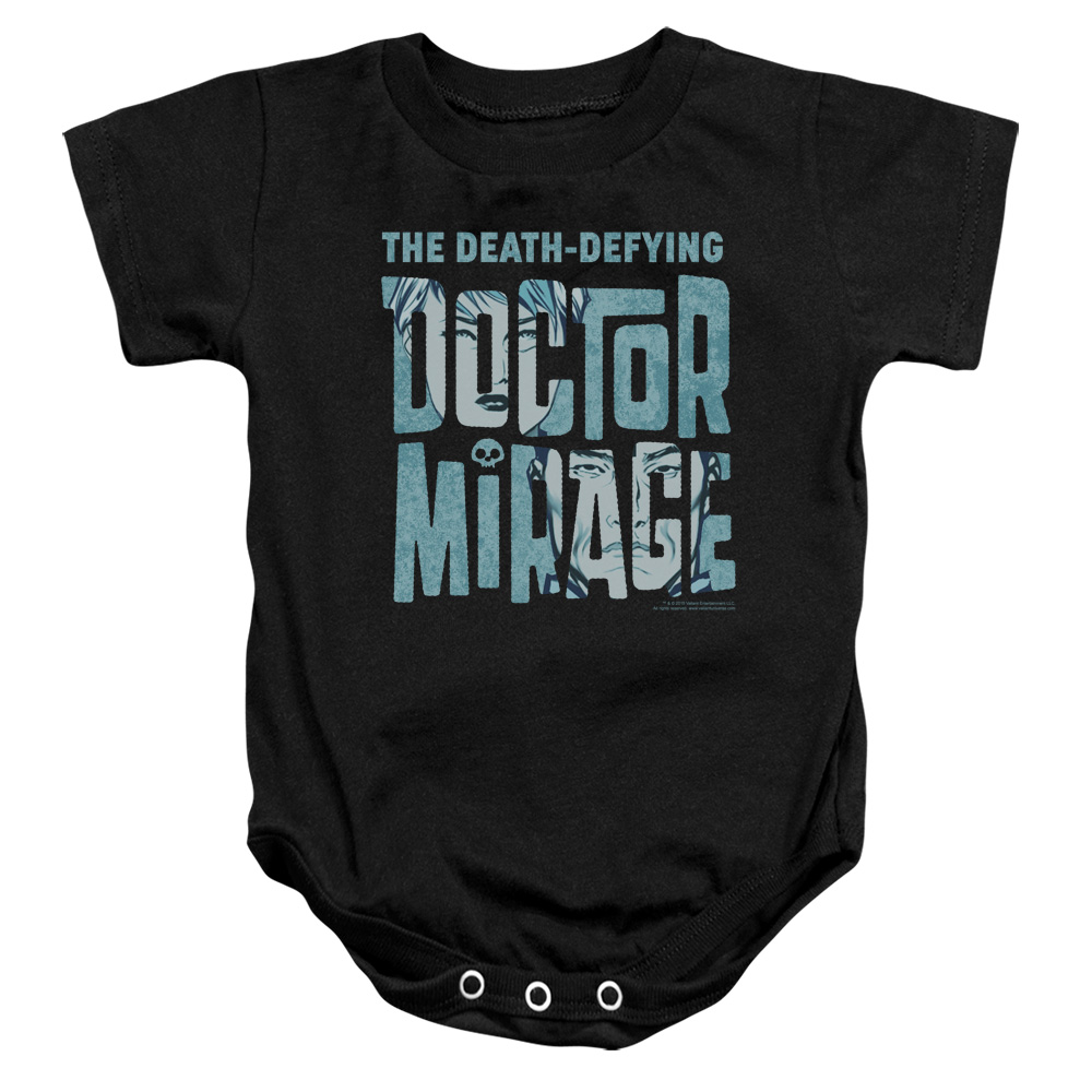 Dr Mirage Character Logo Baby Bodysuit