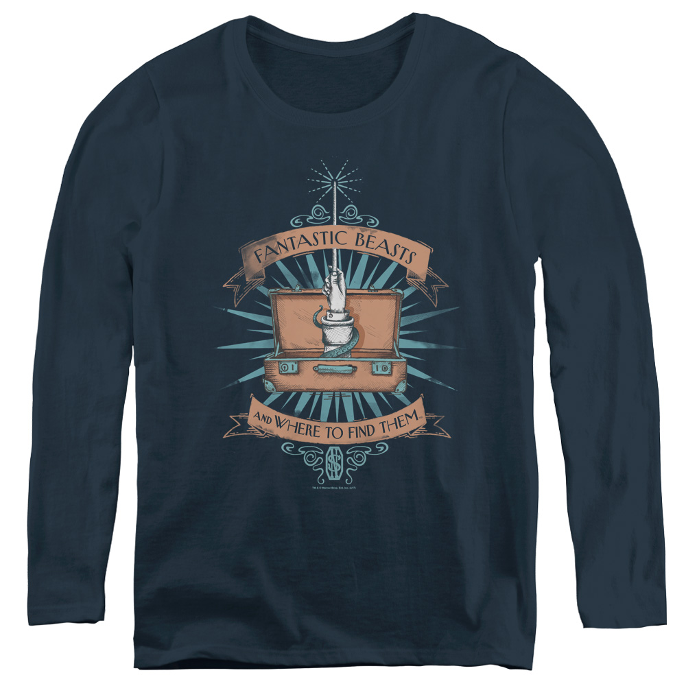 Briefcase Fantastic Beasts and Where to Find Them Women's Long Sleeve Shirt