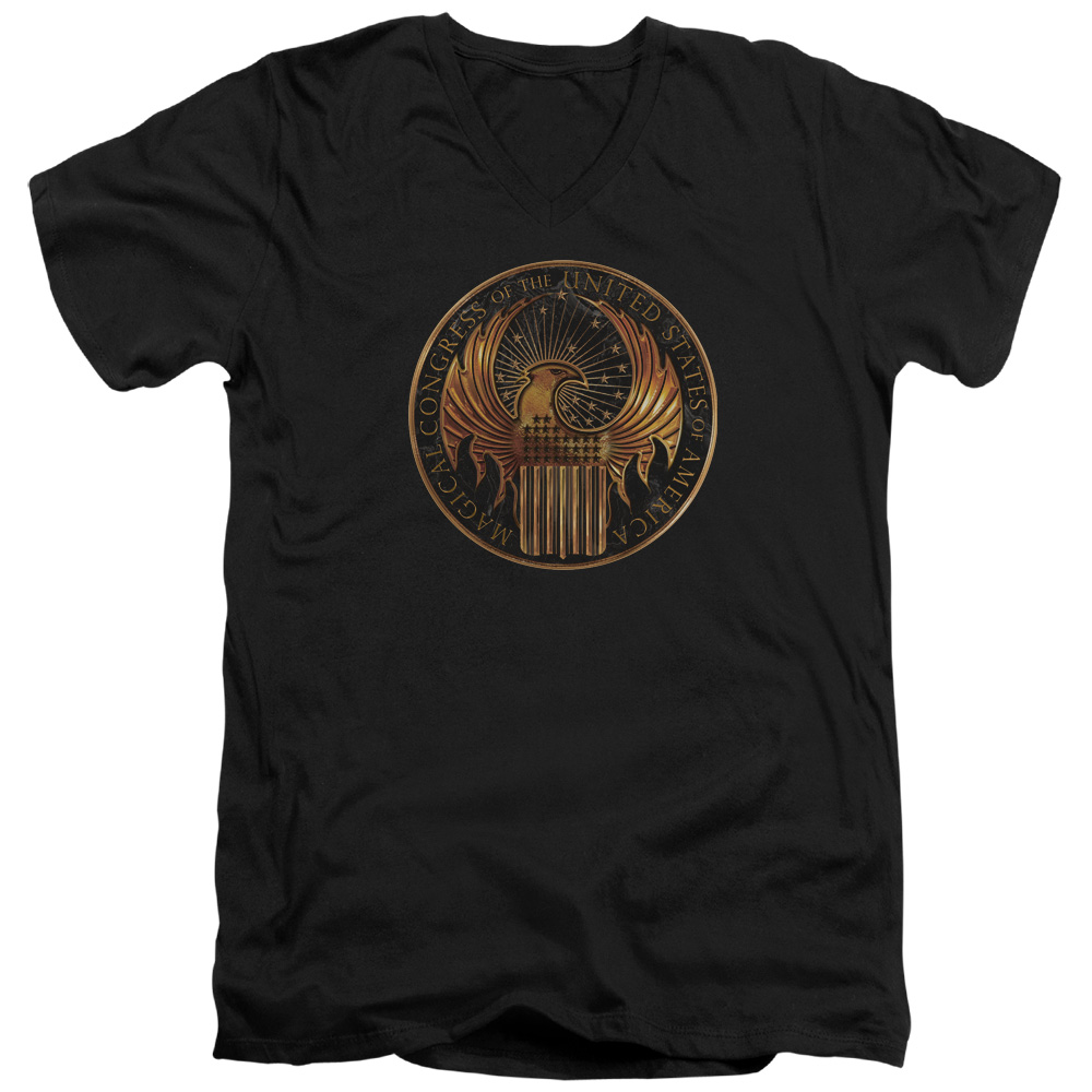 Magical Congress Crest Fantastic Beasts and Where to Find Them V-Neck T-Shirt