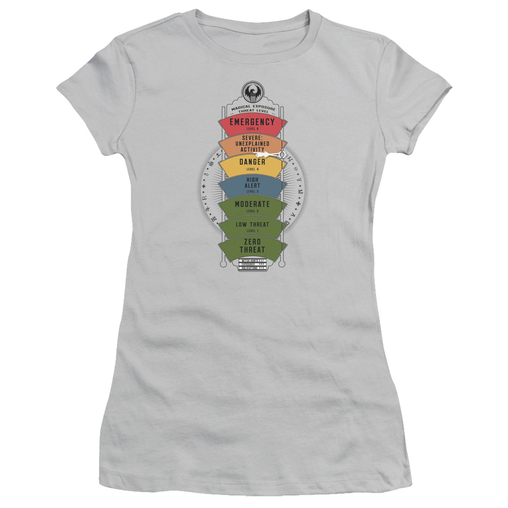 Magical Exposure Threat Level Fantastic Beasts and Where to Find Them Junior Fit T Shirt
