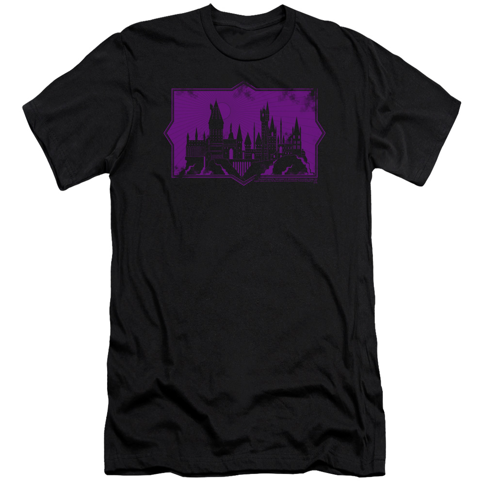 Fantastic Beasts: The Crimes of Grindelwald Hogwarts Silhouette Premium Slim Fit T-Shirt