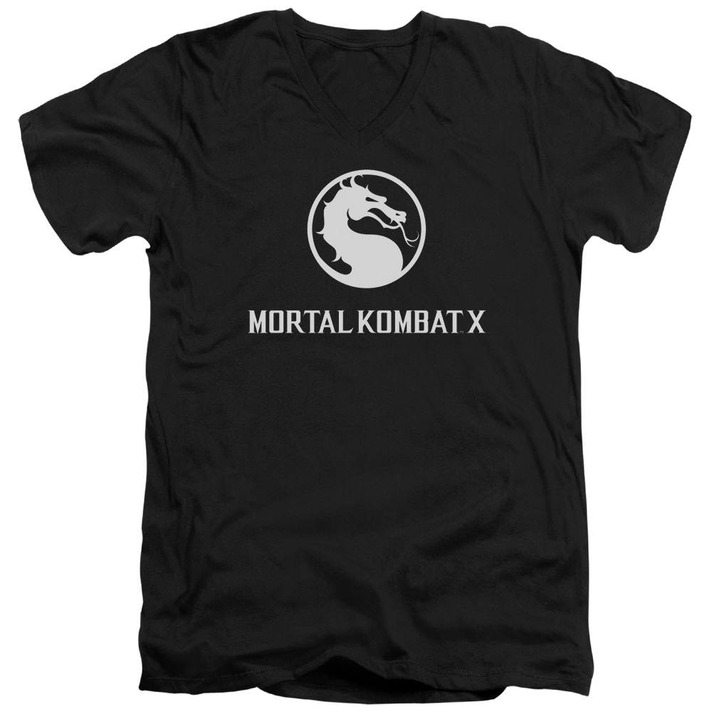 Mortal Kombat Dragon Logo V-Neck T-Shirt