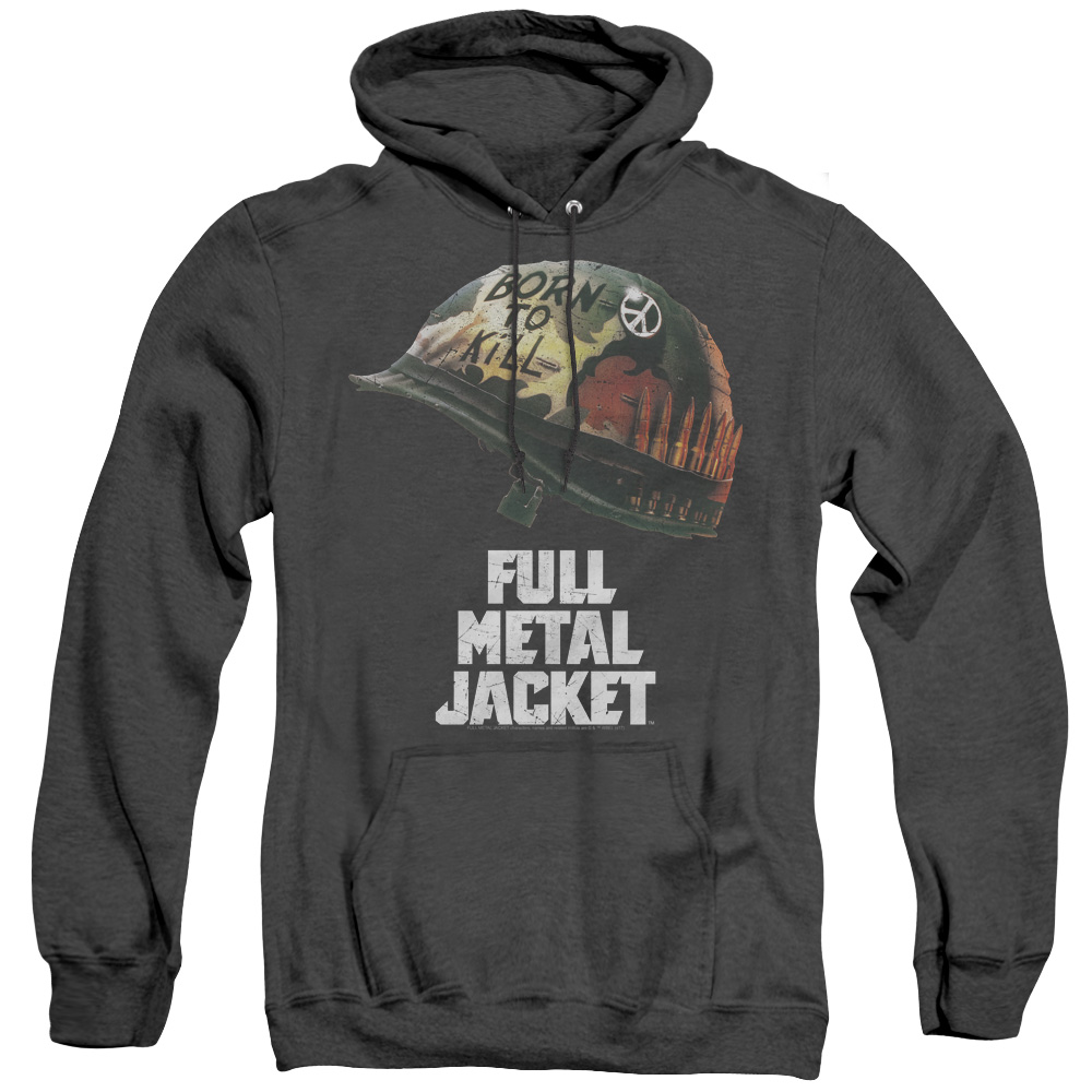 Full Metal Jacket Poster Adult Heather Hoodie