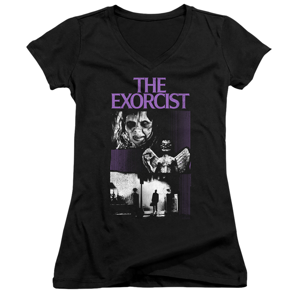 The Exorcist What an Excellent Day Juniors V-Neck T-Shirt