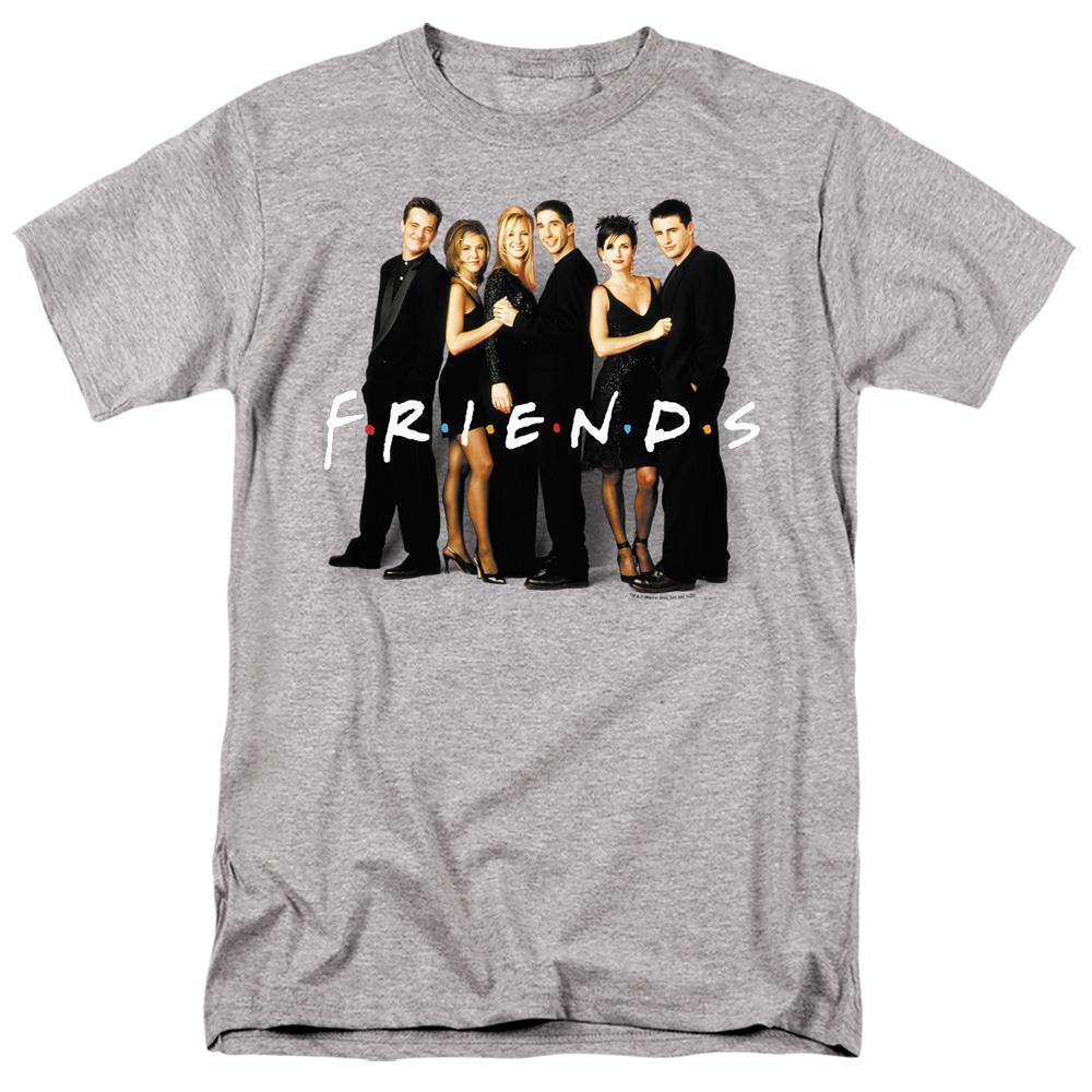 Friends Cast In Black T-Shirt