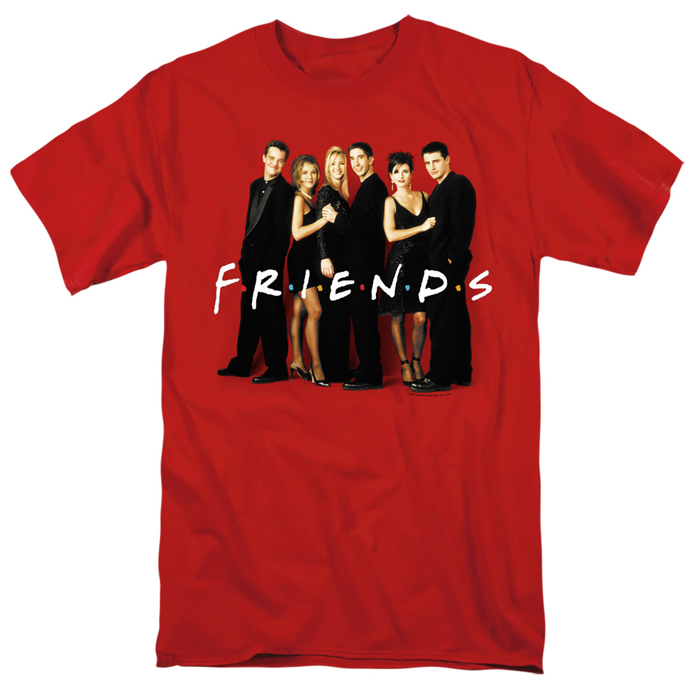 Friends Cast In Black T-Shirt