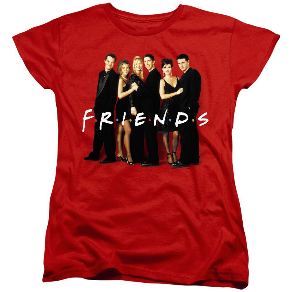 Friends Cast In Black Women's T-Shirt