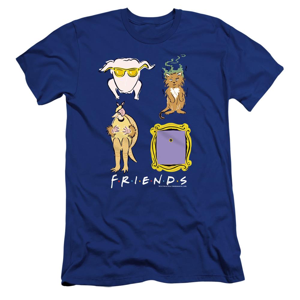 Friends Symbols Premium Slim Fit T-Shirt