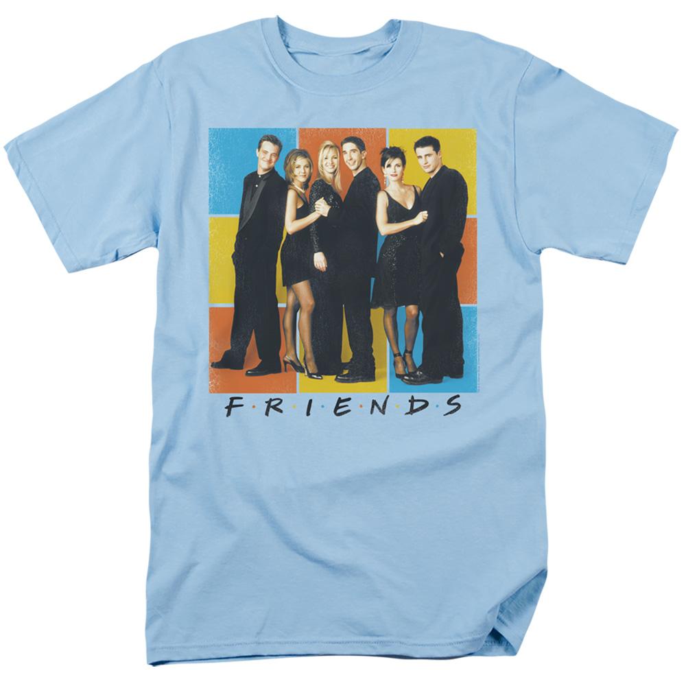 Friends Color Block Cast T-Shirt