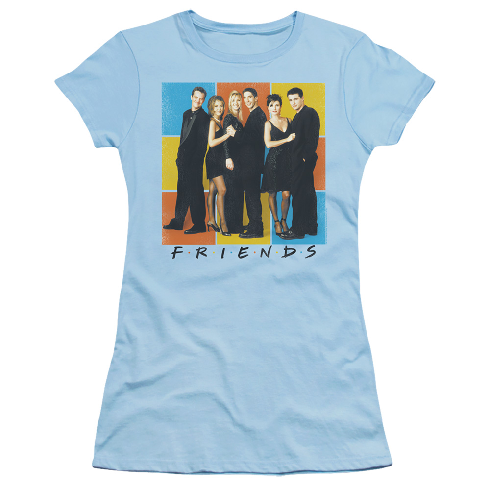 Friends Color Block Cast Junior Fit T Shirt