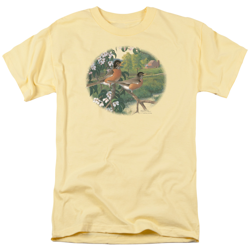 Wild Wings Apple Blossom Time Robins T-Shirt