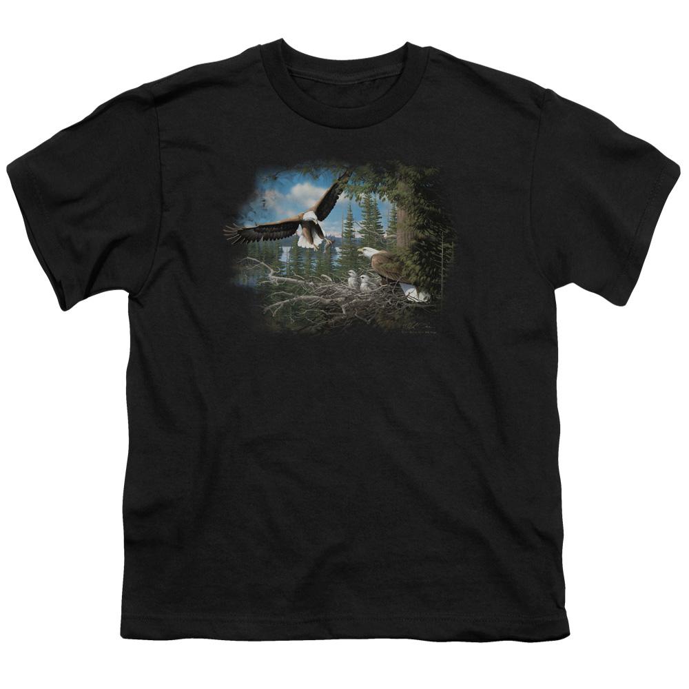 Wild Wings Spring Bald Eagles Kids T-Shirt