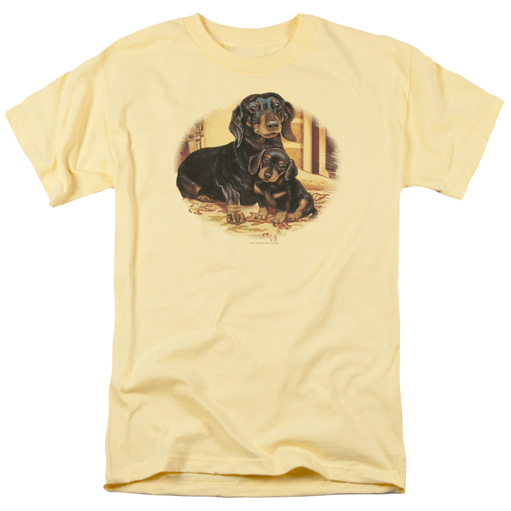 Wild Wings Wild Life Picture Perfect Dachshunds Dogs T-Shirt